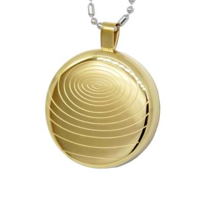 Iyashi Negative Ion Scalar Energy Pendant (gold)