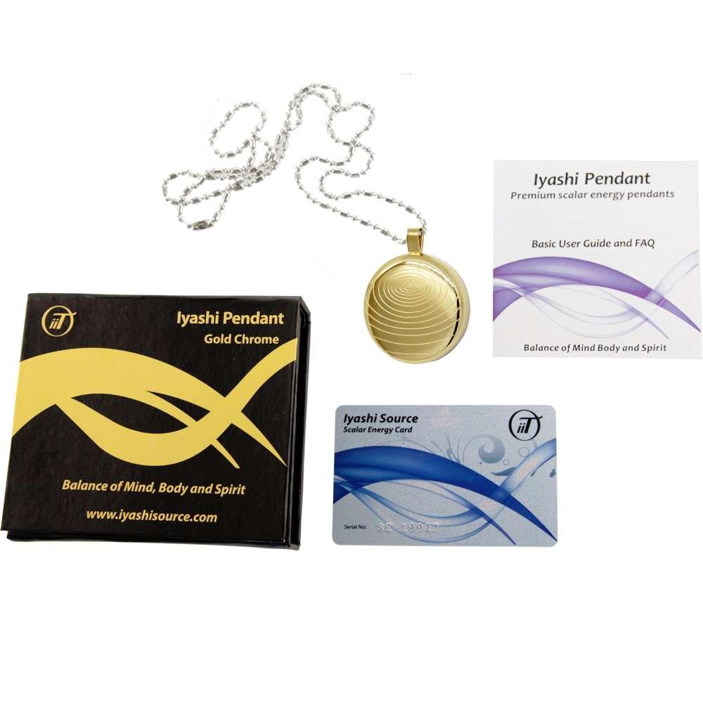 Iyashi Negative Ion Scalar Energy Pendant (gold